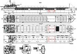 Общее расположение сухогрузного судна проекта RSD5