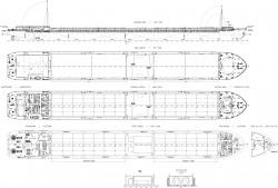 Общее расположение сухогрузного судна проекта RSD4