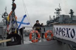 Подъем флага на МРК