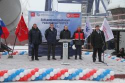 Церемония закладки траулера проекта СТ-192