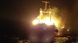 Пожар на океанском траулере