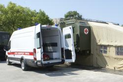 Учение медиков Военно-морского госпиталя