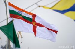Подъем флага ВМС Индии