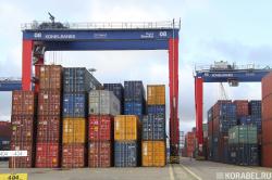 RTG на контейнерной линии порта