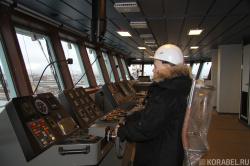 На капитанском мостике