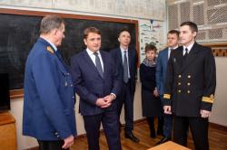 Глава Росрыболовства встретился с курсантами Сахал