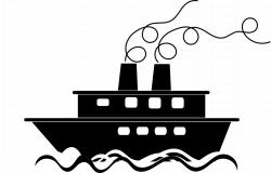 Плавно навстречу идет пароход
