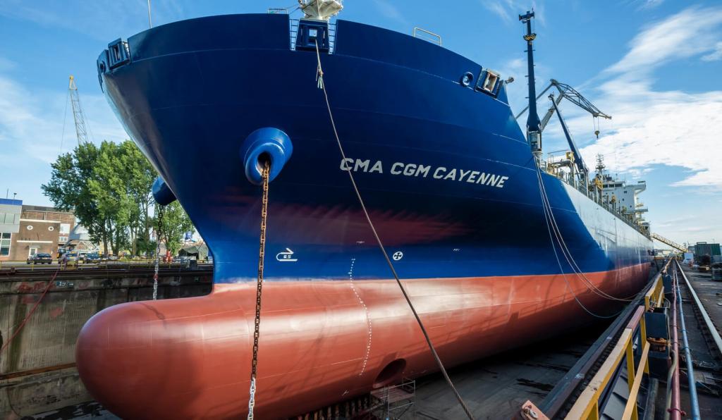 Damen завершила ремонт и техническое обслуживание семи судов группы CMA CGM