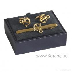 «Подарочный набор: заколка для галстука, запонки»