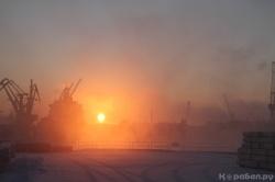Закат в порту