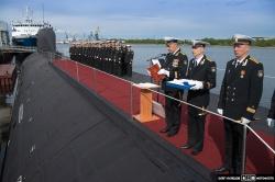 Поднятие Андреевского флаг
