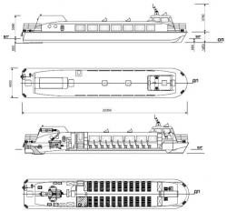 Судно на подводных крыльях для малых рек Сибири