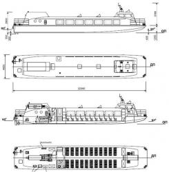 Глиссирующее судно для малых рек Сибири