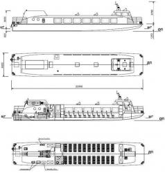 Водометное судно для малых рек Сибири