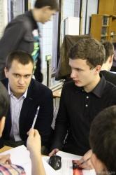 Михаил Николаевич Чемоданов (слева)