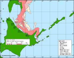 График подхода льдов к Сахалину