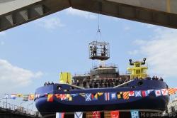 Спуск на воду морского судна тылового обеспечения