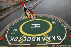 Вертолетная площадка ледок
