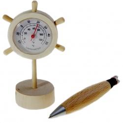 """Набор """"Штурвал"""" (термометр + ручка) 9х12 см"""