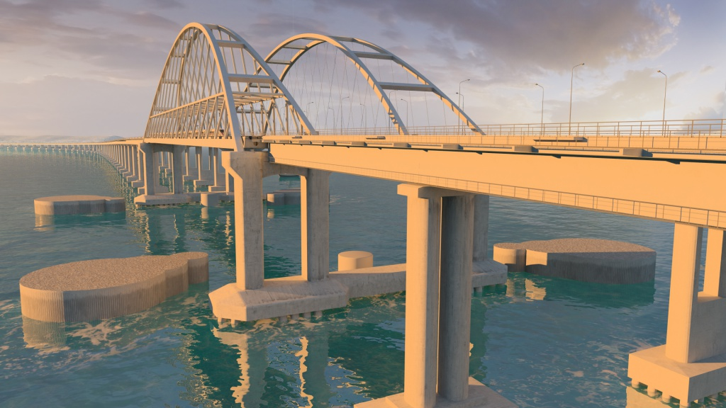 Керченский мост показали вформате 3D