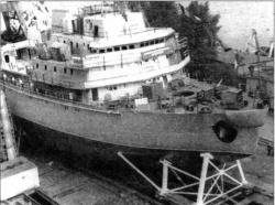 Один из кораблей проекта 97П в постройке на заводе