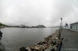 Вид на базу СФ в Североморске