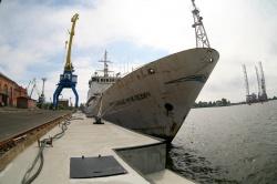 Гидрографическое судно Ромуальд Муклевич на ремонт