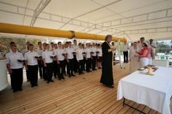 Церемония освящение парусн