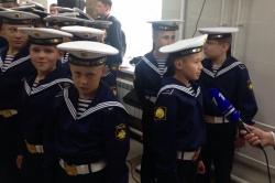 Визит Владимира Путина в Нахимовское училище в При