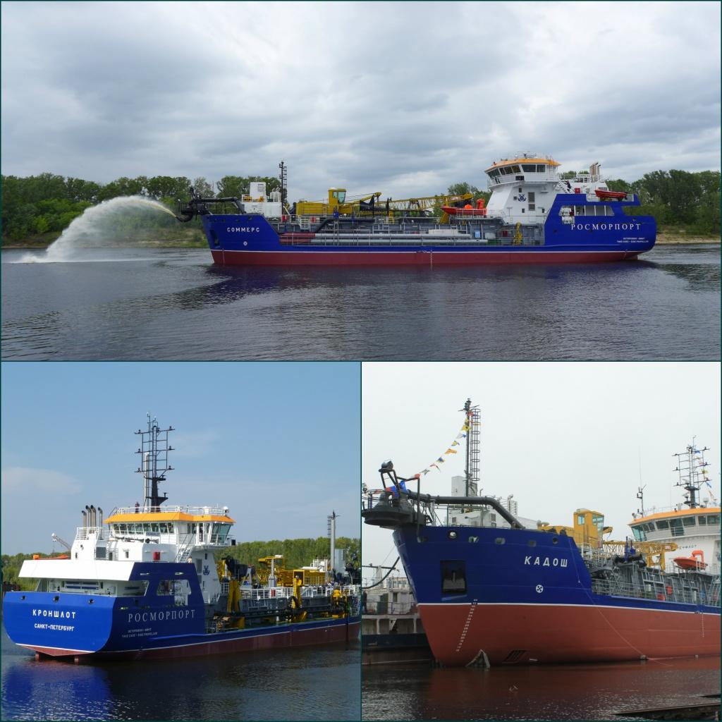 Завод «Красное Сормово» завершил первую вРоссии серию современных земснарядов проекта TSHD1000