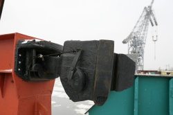 Сцепное устройство на пароме-ледоколе ПЛ-2
