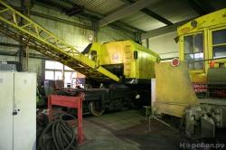 Железнодорожный кран КДЭ-163 и снегоочиститель