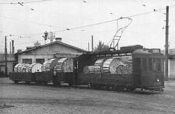 Грузовой трамвай с продукцией завода
