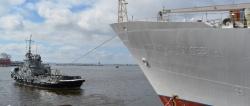 Завершен доковый ремонт гидрографического судна