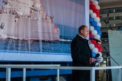 Начало церемонии закладки корабля