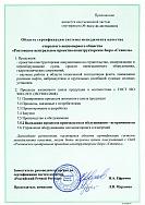 Приложение к сертификату ИСО