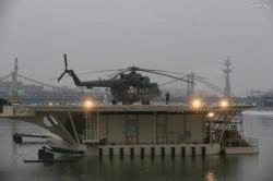 Многофункциональный причальный комплекс с вертолет