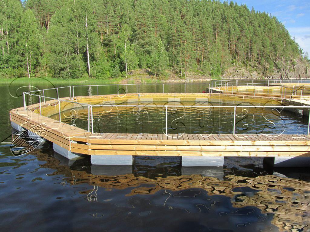 Выращивание рыбы в садках 941