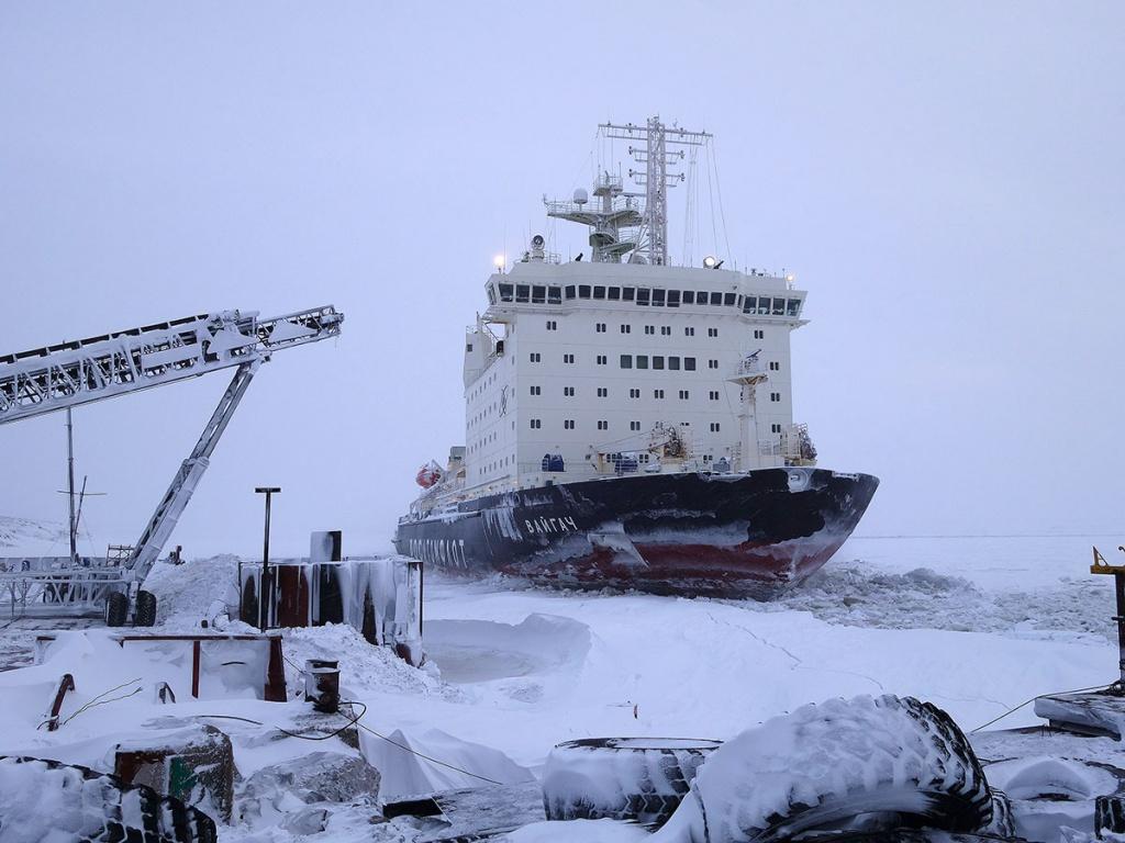 панорамной съемки ледокол ломает лед фотографии его экипаже служил