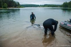 Погружение глайдера в воду