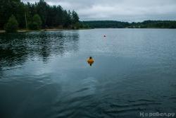 Расстановка буев по траектории движения подводного