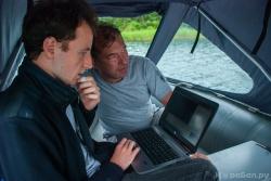Филипп и Олег проводят анализ работы глайдера с во