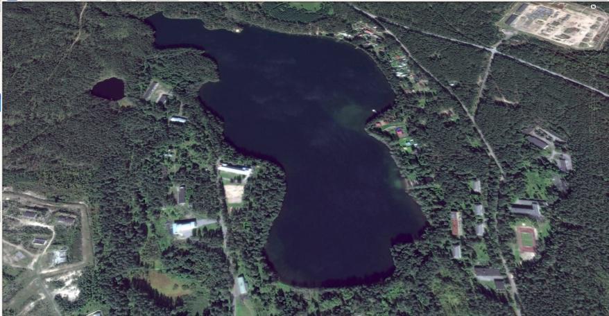 Снимок со спутника о. Саперное, Ленинградская область
