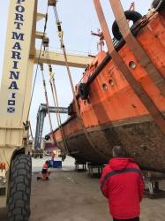 В Алексино порт Марина был осуществлен доковый под