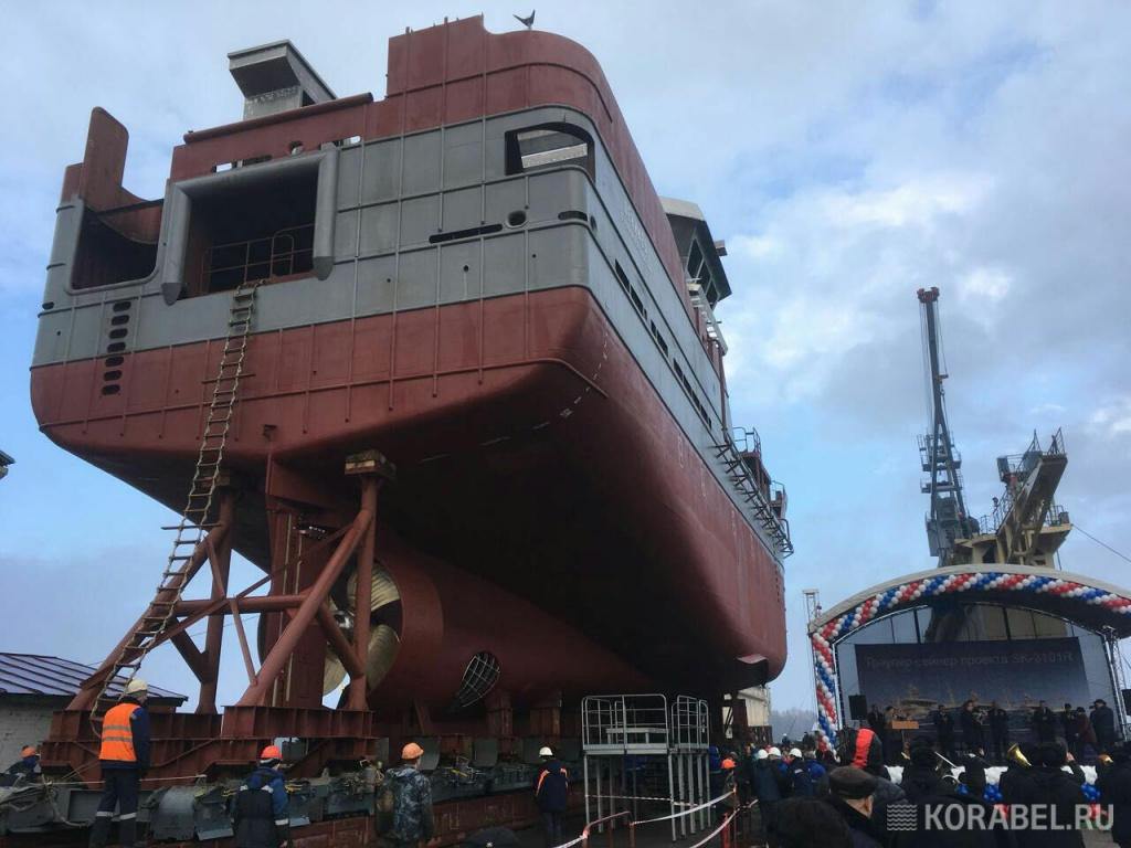 ВКалининграде назаводе «Янтарь» спущено наводу судно «Ленинец»