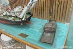 Модели плавкрана в музее Севастопольского морского