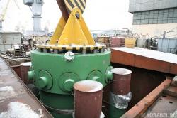 Погрузка второго парогенератора на атомный ледокол