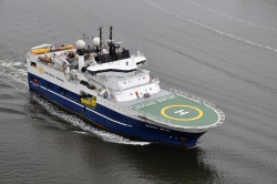 Seismic survey ship