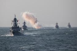 Итоговые учения корабельных группировок Каспийской