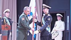 Сергей Шойгу передает знамя